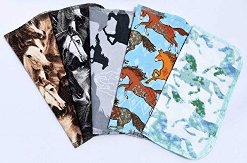 (1 Ply Horsing Around-Set Napkins 8x8 inches 5 Pack - Little Wipes (R) Flannel)
