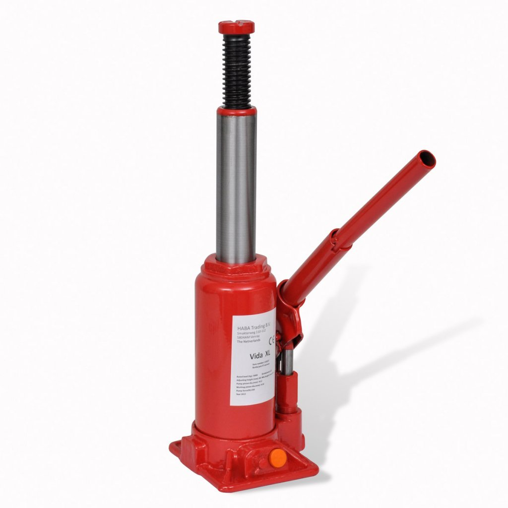 vidaXL Hydraulic Bottle Jack 20 Ton Red Car Lift Automotive Heavy Duty Lifting