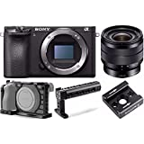 Sony Alpha a6500 Mirrorless Body w/ Sony SEL1018 10-18mm Wide-Angle Lens + SmallRig Cage for Sony A6500