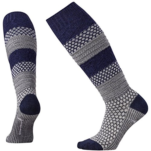 Smartwool Popcorn Cable Knee High Sock - Women's Light Gray Heather Medium