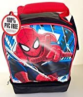 Spider-Man Thermos Insulated Double Compartment Lunch Bag ( sorter design)
