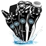 Miracu 4 In 1 Professional Electric Shaver Men's Razor Waterproof Beard & Mustache Groomer Nose & Ear Hair Trimmer Shaving & Grooming Set For Sale