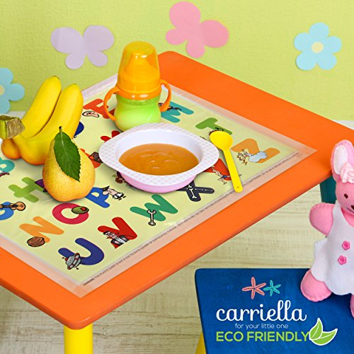 Carriella 60 Count ABC Disposable Placemats for Children Stick on Table Topper by Disposable Placemats (Image #7)