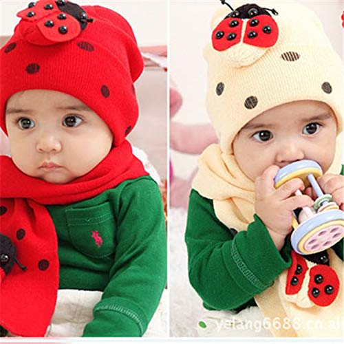 Amazon.com: Creaon Hat and Scarf Winter Children Baby Scarf Thick Cable Boys Girls Warm Scarf Skin-friendly Multi-purpose Hat Scarf Set for Christmas Gift: ...
