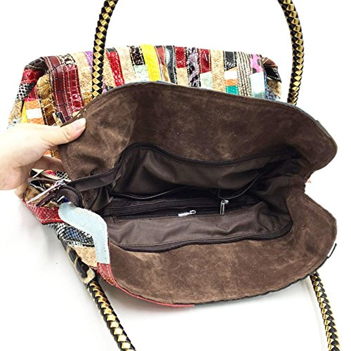 Real Shoulder bag Handbag leather Women's Messenger leather Real bag Totes rwdXrqtYp