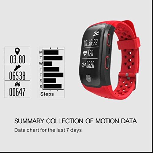 Haute résolution bracelet intelligent suivi de mouvement,Rappel sédentaire,écran tactile capacitif,Calendrier,chronomètre,Capture à distance Compatible avec Android Systeme Including Samsung
