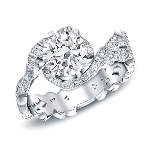 14k White Gold Round-Cut Antique Engagement Ring (1 1/2 cttw, H-I, SI1-SI2)