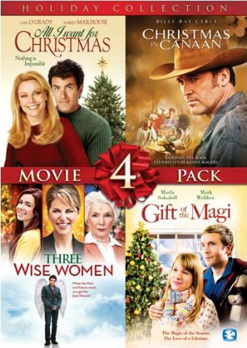 4 Film Holiday Movie Collection (All I Want for Christmas / Christmas in Canaan / Three Wise Women / Gift of the Magi)