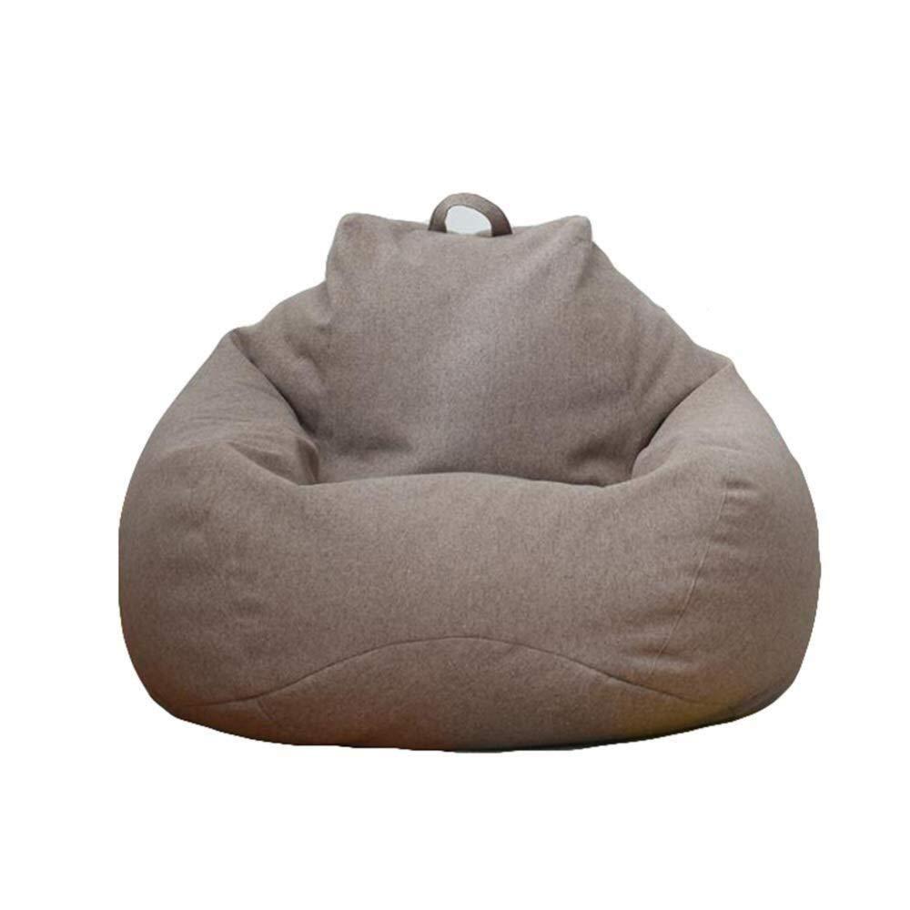 venta al por mayor barato marrón 90110cm Clásico Bean Bag Bag Bag Chair Adultos Perezoso Sofá Silla de Piso Estable Cómodo Hogar o jardín Adecuado para Juegos (Color   Khaki, Talla   100  120cm)  servicio considerado