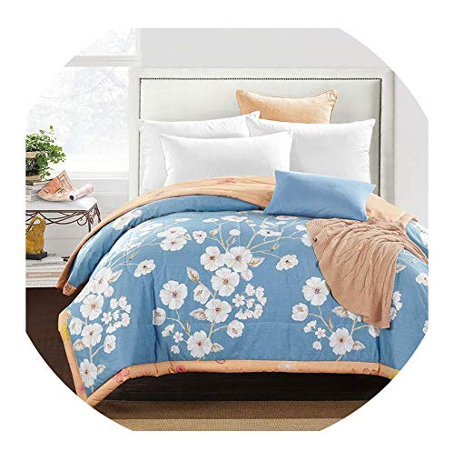 FAT BIG CAT Western Style Quilting Comforter Summer Quilt Twin Queen Size Blankets Plaid 100% Cotton Fabric,150x200cm 59x79inch,Thin for Summer,2017520