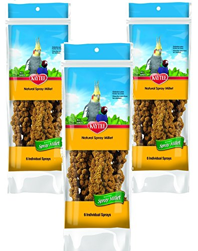(3 Pack) Kaytee Spray Millet for Birds, 6-Count each