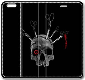 """Gothic Skull Leather Cover for iphone 6 4.7("""")"""
