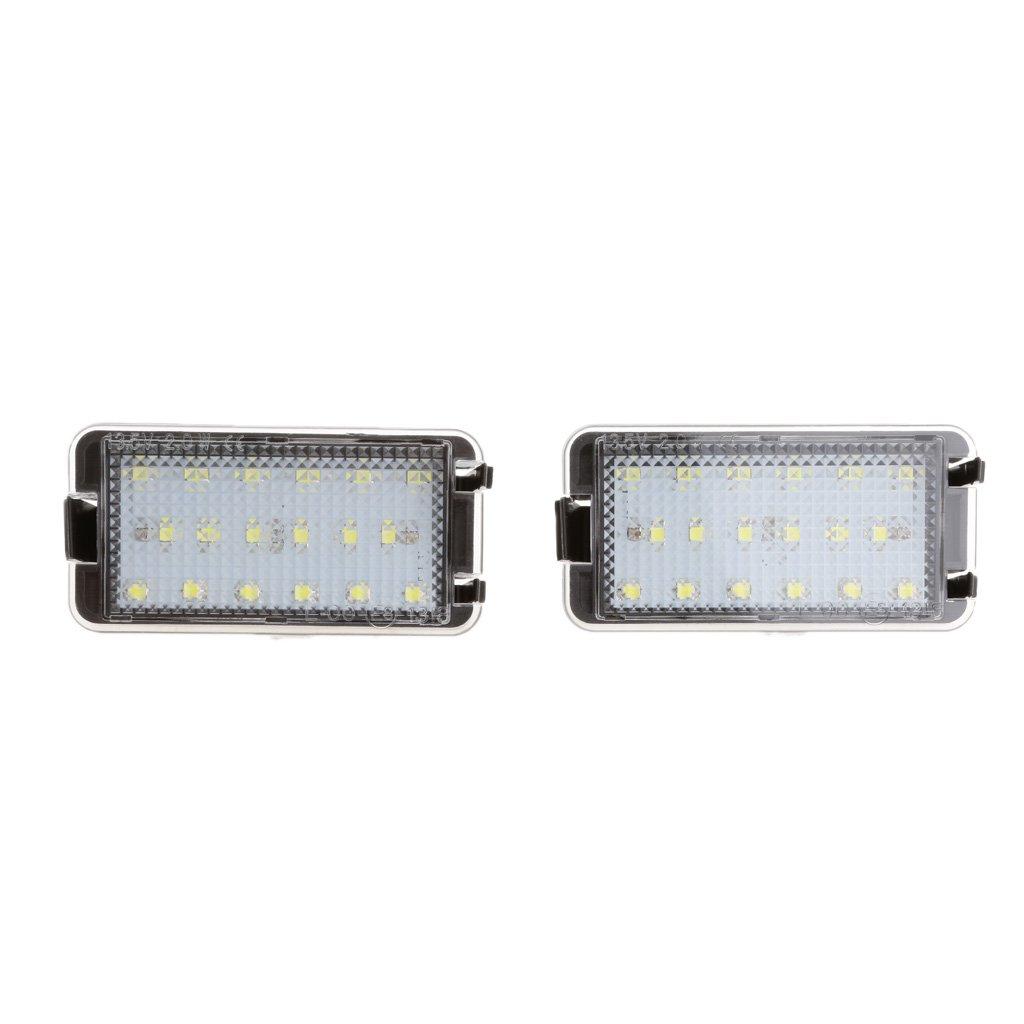kesoto 2 Pedazos de Placa de L/ámpara de Matr/ícula de Luz LED Brillante para Autos Ibiza Cordoba Leon Toledo