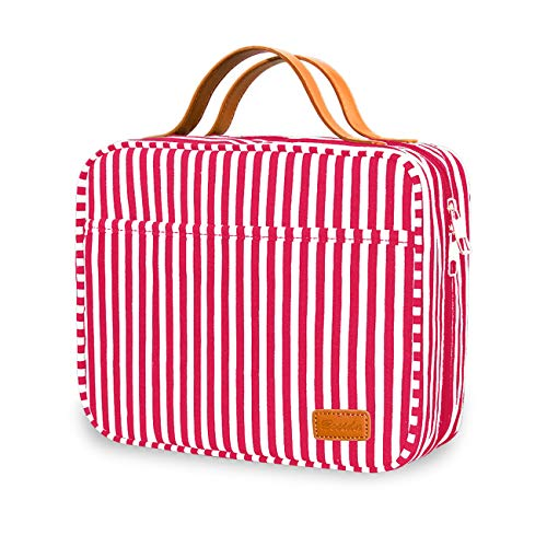 Hanging Travel Toiletry Bag,Large Capacity Cosmetic Travel Toiletry Organizer for Women with 4 Compartments & 1 Sturdy Hook,Perfect for Travel/Daily Use/Christmas Gifts