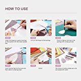 Caydo 414 Pieces Leather Earring Making Kit Include Instructions, 24 Pieces 4 Kinds of Faux Leather Sheet and Tools for Earrings Craft Making Supplies, 6.3 '' x 8.3