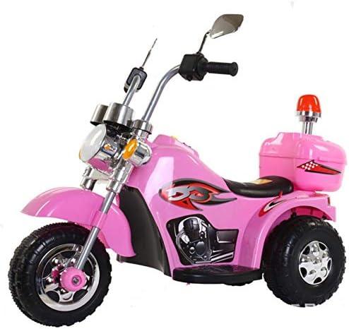 WWWANG infantil motocicleta eléctrica bebé de juguete eléctrico triciclo con Música (Color : Yellow)