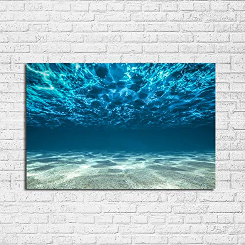 - Baisuart Wall Art 1 Panel Blue Ocean Sea Wall Art Decor Poster Artworks Canvas Prints Seaview Bottom View Beneath Surface Pictures Painting On Canvas Home Office Decor Small Size 8x12inch