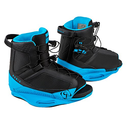 Ronix 2018 District (Black/Azure Blue) Wakeboard Boots