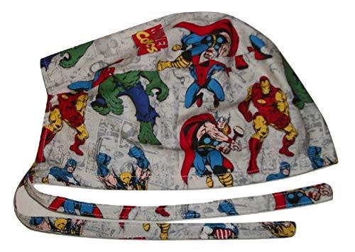 - Scrub Hat Superheroes Comic Books Comics Cotton Fabric Nurse Cap Doctor ER Do-Rag Skull
