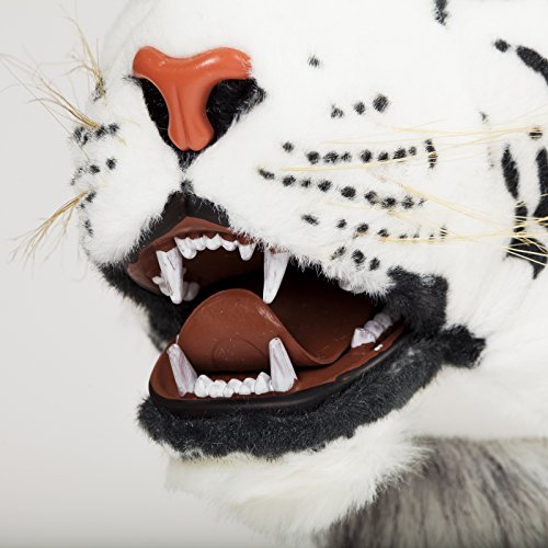 Brubaker Big White Tiger with Open Mouth and Teeth 51 Inch
