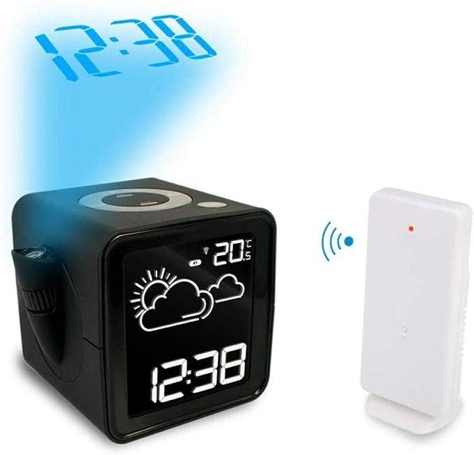 DZXYW Reloj Despertador Reloj de estación meteorológica ...