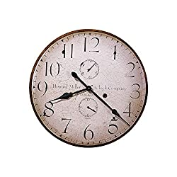 Original Howard Miller Iv Wall Clock Antique With Gold Highlights Dimensions: 25 Diameter Weight: 8 Lbs