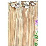 """Forever Young Clip In Remy Human Hair Extensions Honey Blonde Mix Half Head 16"""" Length"""