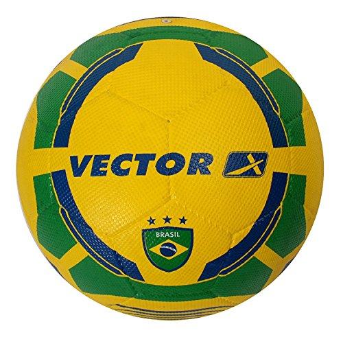 Vector X Brazil Rubber Football  Color : Yellow Green , Size : 5