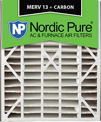 Nordic Pure 20x25x5 (4-7/8 Actual Depth) MERV 13 Plus Carbon Trion Air Bear Replacement AC Furnace Air Filter, Box of 1