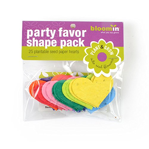 Bloomin Seed Paper Shapes Packs - Heart Shapes - 25 Shapes Per Pack - 2.3x1.8
