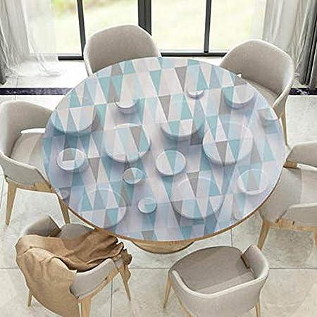 Fangfang Copritavolo Tovaglia in PVC antivegetativa Impermeabile Tonda Adatta per Tavolo da Banchetto Color : A, Size : 100cm Diameter Circle