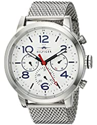 Tommy Hilfiger Mens JAKE Quartz Stainless Steel Casual Watch, Color:Silver-Toned (Model: 1791233)