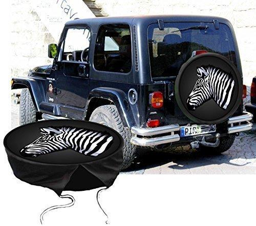 Funda para rueda de repuesto protectora Zebra para su Jeep: Amazon.es: Coche y moto