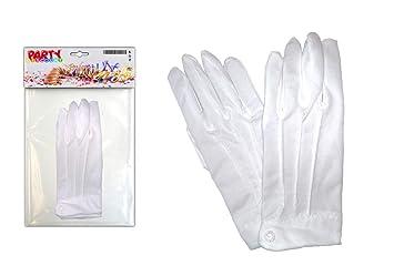 e73bad7a7430db PARTY DISCOUNT ® KMU90017802 Handschuhe Herren aus Baumwolle, weiß mit  Biesen