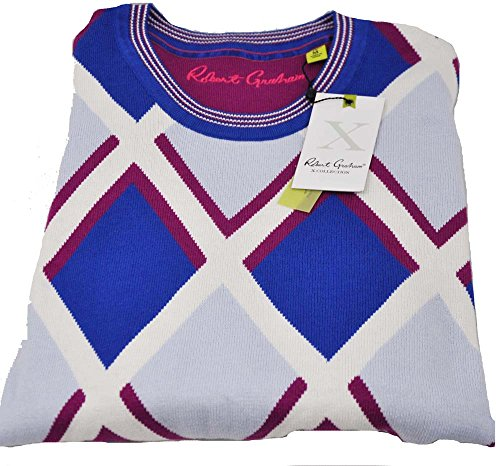 robert-graham-mens-medium-multi-color-long-sleeve-crew-neck-pullover-sweater