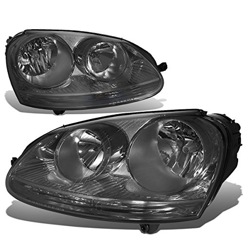 For Volkswagen VW Jetta/Rabbit Pair of Smoke Lens Headlight