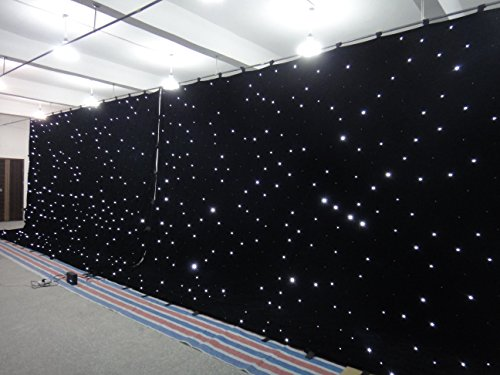 (Flyko stage 4X6M W LED star curtain led stage backdrop)