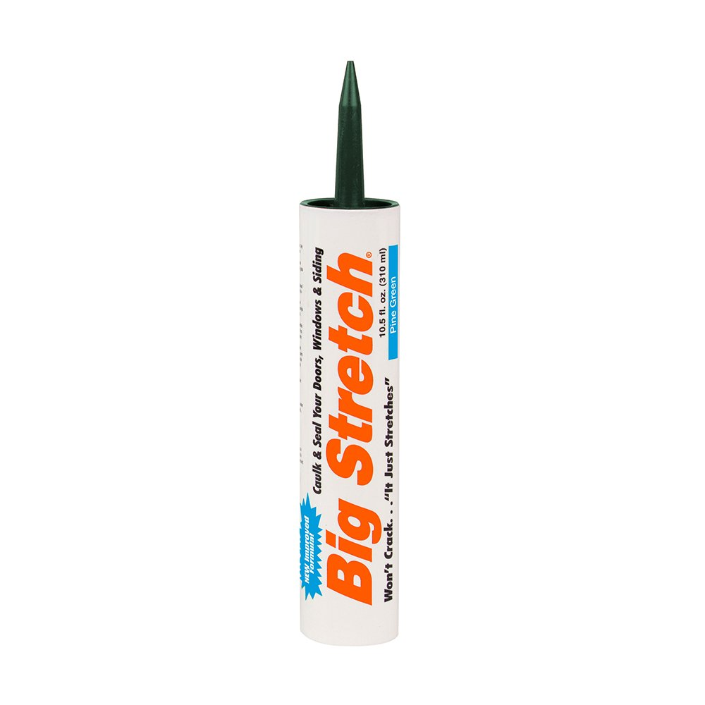 Sashco 10024 Big Stretch Best Exterior Caulk Pine Green 10.5-ounce