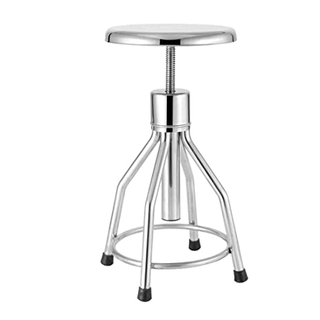 Outstanding Amazon Com Stainless Steel Backless Bar Stool Counter Machost Co Dining Chair Design Ideas Machostcouk