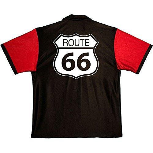 America's Main Street Stock Print on 50's Style Bowling Shirts Cruisin Usa Bowling Shirts