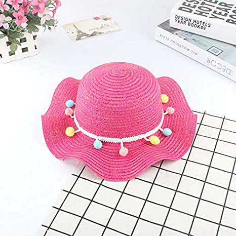 Photography Props Breathable Baby Hat  Beach Cap Visor Caps Straw Hats