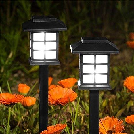 ALIKEEY 2Pcs énergie solaire LED lumière extérieure jardin pelouse ...