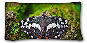 Custom Cotton & Polyester Soft Animal Custom Cotton & Polyester Soft Rectangle Pillow Case Cover 20x36 inches (One Side) suitable for California King-bed