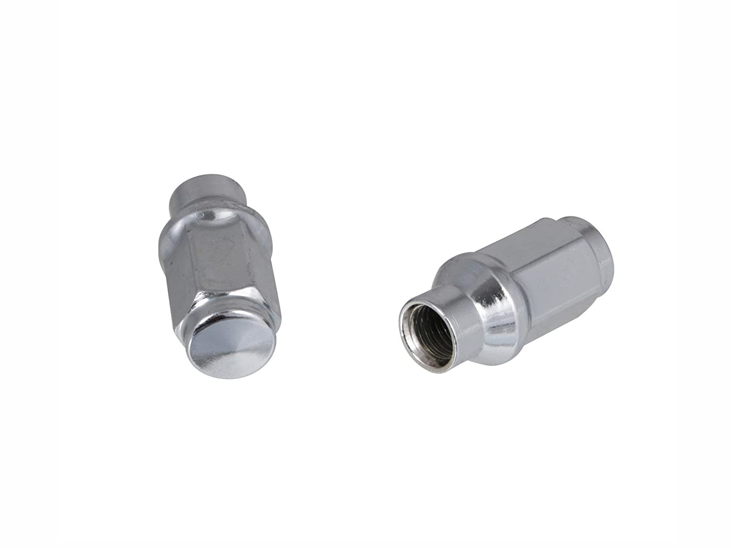 Cone Conical Taper Seat Shank UberTechnic Chrome Silver Bulge Lug Nuts Metric 12x1.5 Thread Size 1.75 Length for 6Lug Vehicles Wheels Precision European Motorwerks Closed End 24 ET Style