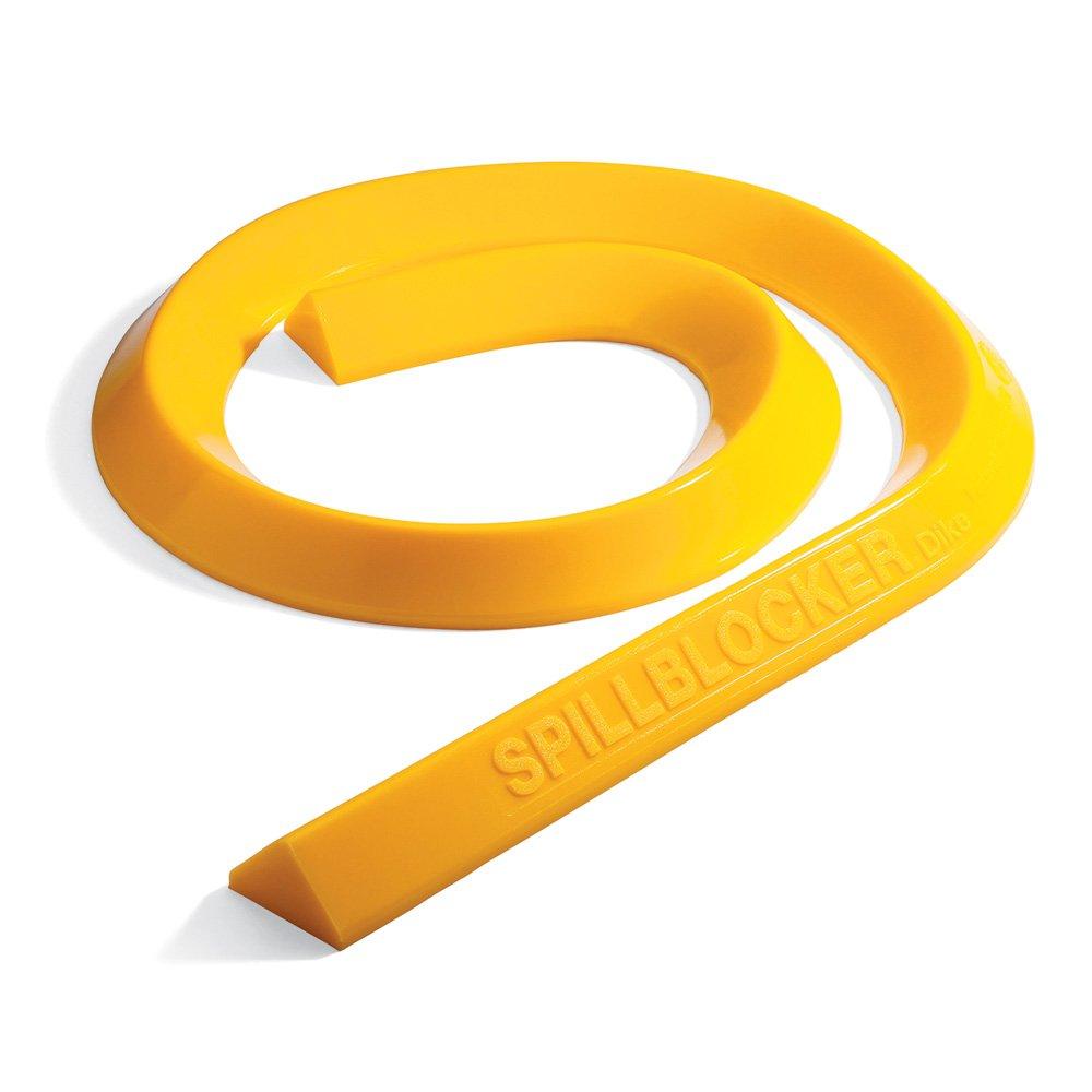 "New Pig Original SpillBlocker Dike, Ideal for Quick Spill Response, Smooth Surface Dike, 10' L x 4"" W x 2.25"" H, Yellow, PLR204-YW"