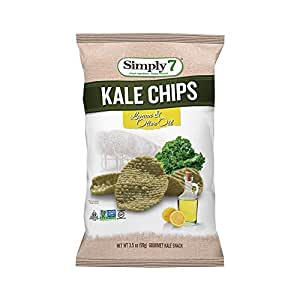 Simply7 Gluten Free Kale Chips, Lemon and Olive Oil, 3.5 Ounce (Pack of 12)