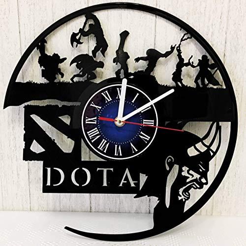 Game MOBA Dota 2 Wall Clock Made from 12 inches / 30 cm Vintage Vinyl Record | Dota MOBA Gift for Men Boys Husband | Dota Game Gift | Dota Merchandise