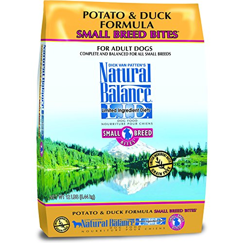 Natural Balance Small Breed Bites L.I.D. Limited Ingredient Diets Dry Dog Food, Grain Free, Potato & Duck Formula, 12-Pound