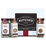Urban Accents BUTCHER SHOP, A Gourmet Grilling Rub Trio of Spices Gift Set (Set of 3) - A BBQ Seasonings Gift Basket. Perfect for Weddings, Housewarmings or Any Occasion.
