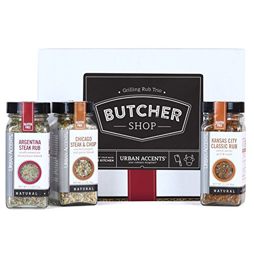 (Urban Accents BUTCHER SHOP, Gourmet Grilling Spice Rub Gift Set (Set of 3) - Ultimate BBQ Seasonings Gift for Grill Masters- Perfect Gift for Him, Weddings or Any Occasion)